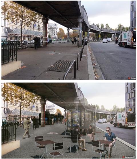 지하철 고가도로 아래 도보공간 개선방안