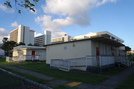 하와이주의 노후화된 공립학교 건축물 모습