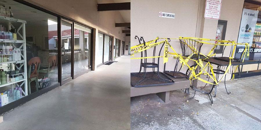 [그림 2] 하와이州 오아후섬 호놀룰루에 소재한 대형 쇼핑몰이 영업을 정지한 모습(통신원 직접 촬영)