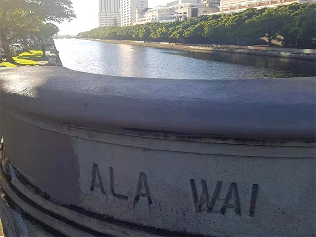 [그림 2] 운하 바닥에 침전된 쓰레기 및 침전물. 알라와이 운하 프로젝트에 찬성하는 주민들은 이를 근거로 프로젝트 추진의 필요성을 강조(통신원 직접 촬영)