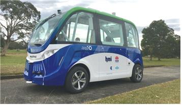그림. 시드니에서 시범운행 중인 자율주행 셔틀버스