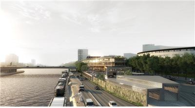 [그림 2] 센강변에 설치될 친환경 수상운송 플랫폼