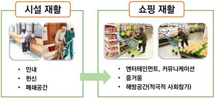 [그림 1] 쇼핑재활 사업 효과